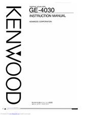 Kenwood GE-4030 Manuals