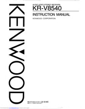Kenwood KR-V8540 Manuals