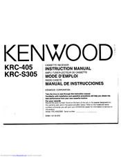 Kenwood KRC-S305 Manuals