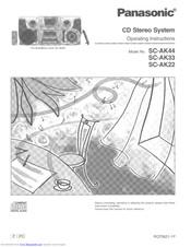 Panasonic SC-AK22 Manuals