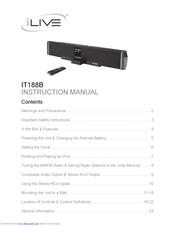 Ilive IT188B Manuals