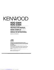Kenwood KDC-C604 Manuals