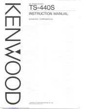 Kenwood TS-440S Manuals