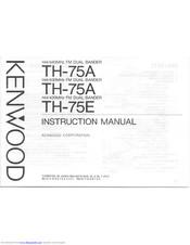 Kenwood TH-75E Manuals