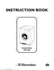 Electrolux TDV 850 Manuals