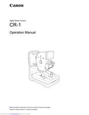 Canon CR-1 Mark II Manuals