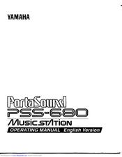 Yamaha PortaSound PSS-680 Manuals