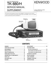 Kenwood TK-880 series Manuals