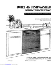 Maytag BUILT-IN DISHWASHER Manuals