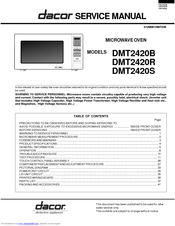 dacor dmt2420s manuals manualslib