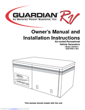 Generac power systems Guardian RV QUIETPACT 40G Manuals