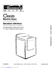 Kenmore Elite Dryer Manual Pdf : Kenmore Elite 11095089401