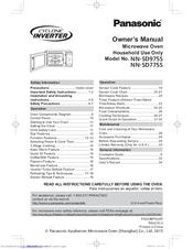 panasonic nn sd975s manuals manualslib