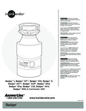 Insinkerator Badger 500 Manual : insinkerator, badger, manual, Insinkerator, Badger, Manuals, ManualsLib