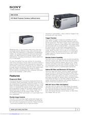 Sony HDC-X310 Manuals