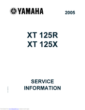 Yamaha xt125 2005 Manuals