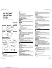 Casio HR-100TM Manuals