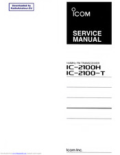 Icom IC-2100H Manuals