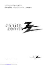 Zenith Z50PJ240 and Manuals