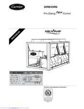 Carrier AQUASnap 30RB Manuals