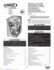 Lennox SLP98UHV SERIES Manuals