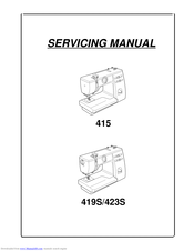 Janome 415 Manuals