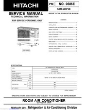 Hitachi RAM-90NP5B Manuals