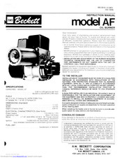 Beckett AF Manuals