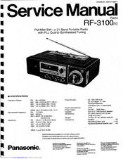 Panasonic RF-3100 Manuals