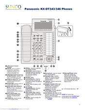 Panasonic KX-DT 343 Series Manuals