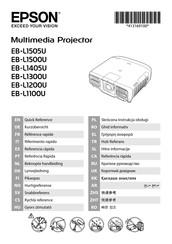 Epson EB-L1100U Manuals