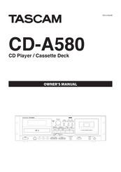 Tascam CD-A580 Manuals