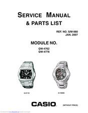 Casio G-011D Manuals