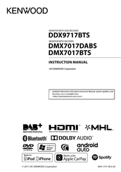 Kenwood DMX7017DABS Manuals