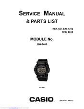 Casio G-Shock QW-3403 Manuals