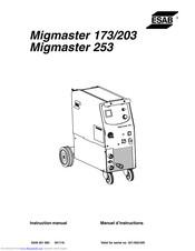Esab Migmaster 253 Manuals