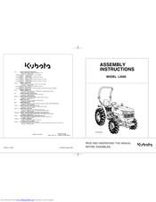 Kubota L3200 Manuals