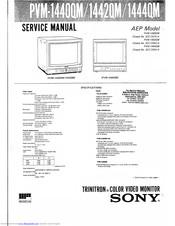 Sony PVM-1440QM Manuals