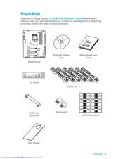 Msi Z170A MPOWER GAMING TITANIUM Manuals