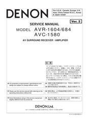 Denon AVR-1604 Manuals