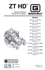 Gravely ZT HD 44 Manuals