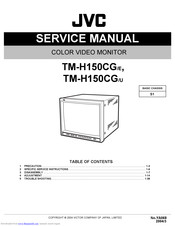 Jvc TM-H150CG/E Manuals