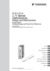 Yaskawa SGDV SERVOPACK Manuals