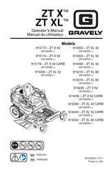 Gravely ZT X 52 Manuals