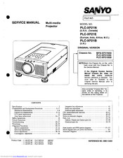Sanyo PLC-XP21N Manuals