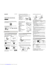 Sony FDR-X3000 Manuals