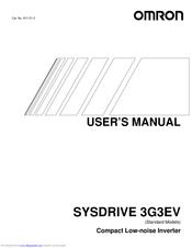 Omron SYSDRIVE 3G3EV SERIES Manuals