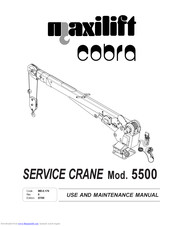 Cobra Maxilift 5500 Manuals