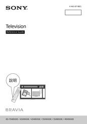 Sony KD-65X9000E Manuals