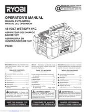 Ryobi P3240 Manuals